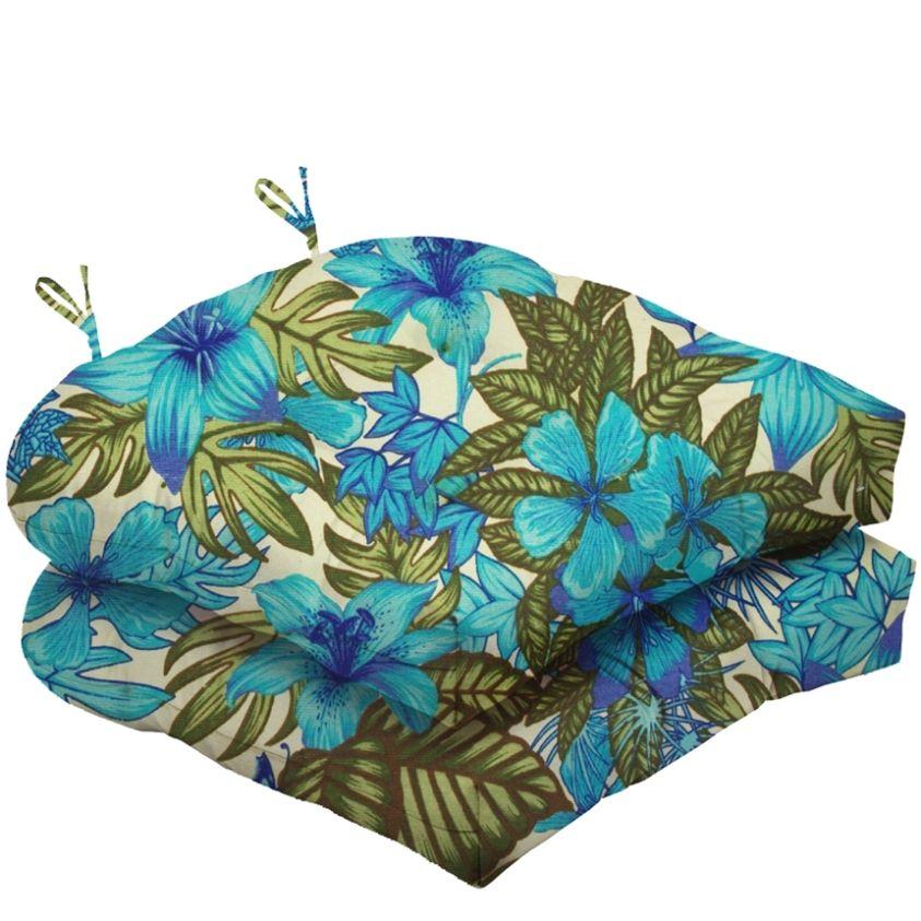 Almofada Para Cadeira Futton Solid Estampado 40x40cm  - Azul Royal