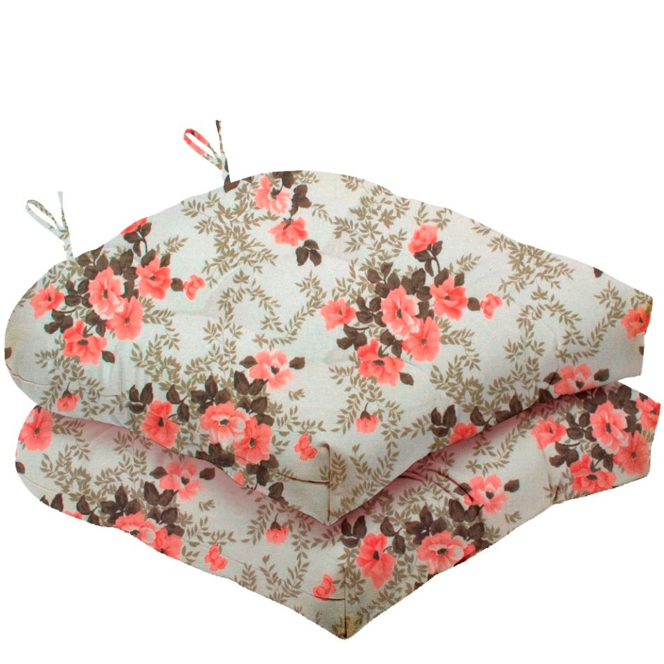 Almofada Para Cadeira Futton Solid Estampado 40x40cm  - Rosa