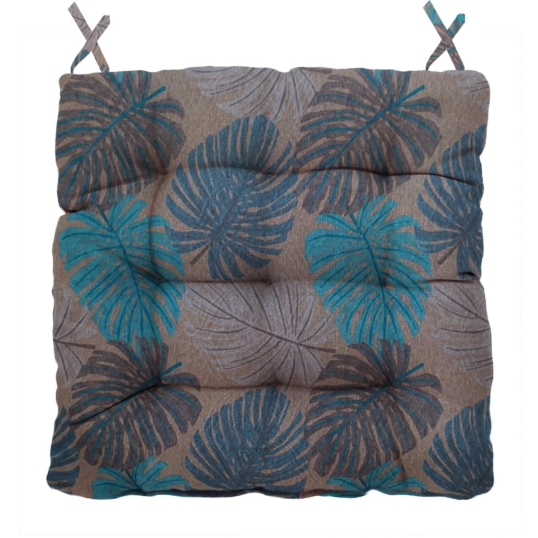 Almofada Para Cadeira Futton Wendy 40x40cm Marrom Azul