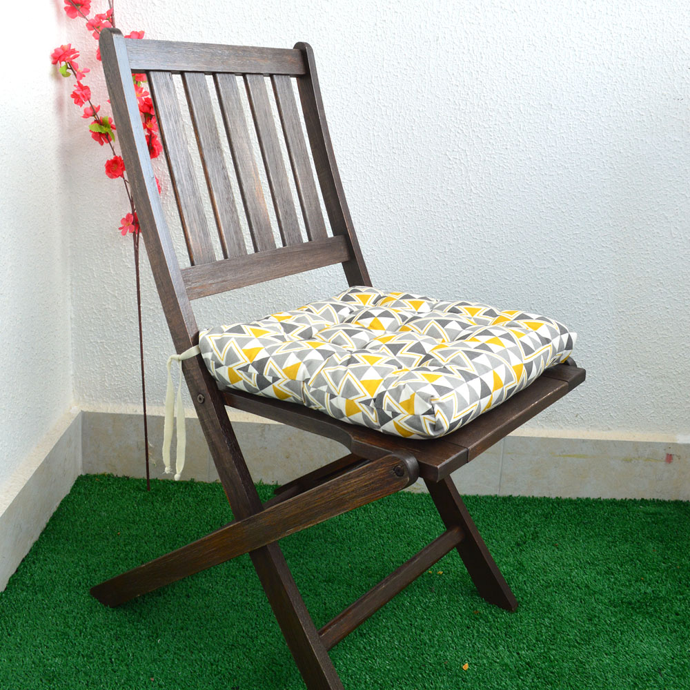 Almofada Para Cadeira Futton Wendy 40x40cm Triangulos