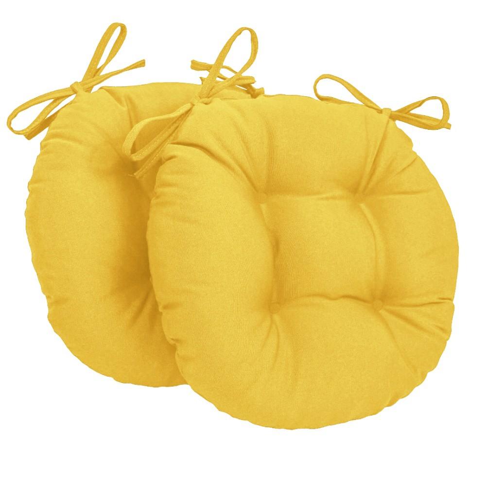 Almofada Para Cadeira Redondo Ø40cm - 2pçs Amarelo