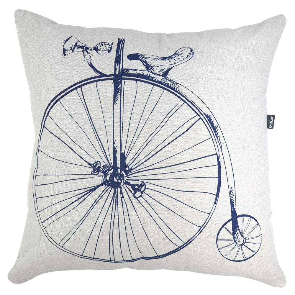 Almofada Serigrafada 50x50cm Bike Azul