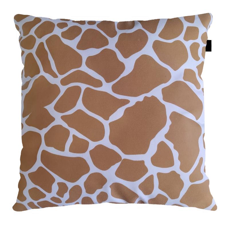 Almofada Suede Estampado 40x40cm Girafa