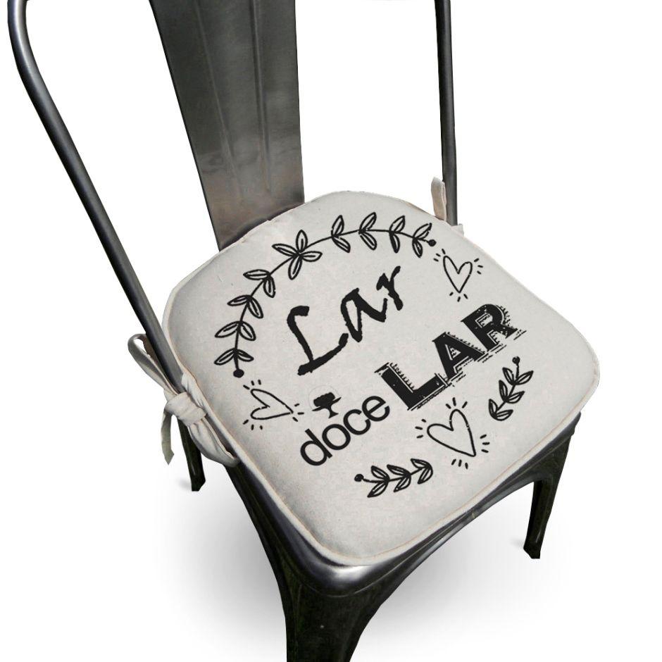 Assento Para Cadeira Algodão Lar 40x40cm