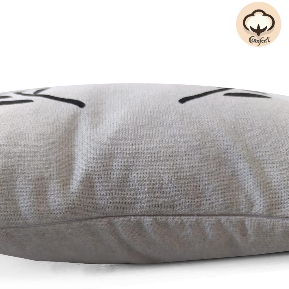 Capa de Almofada Mescla L 40x40cm Preto