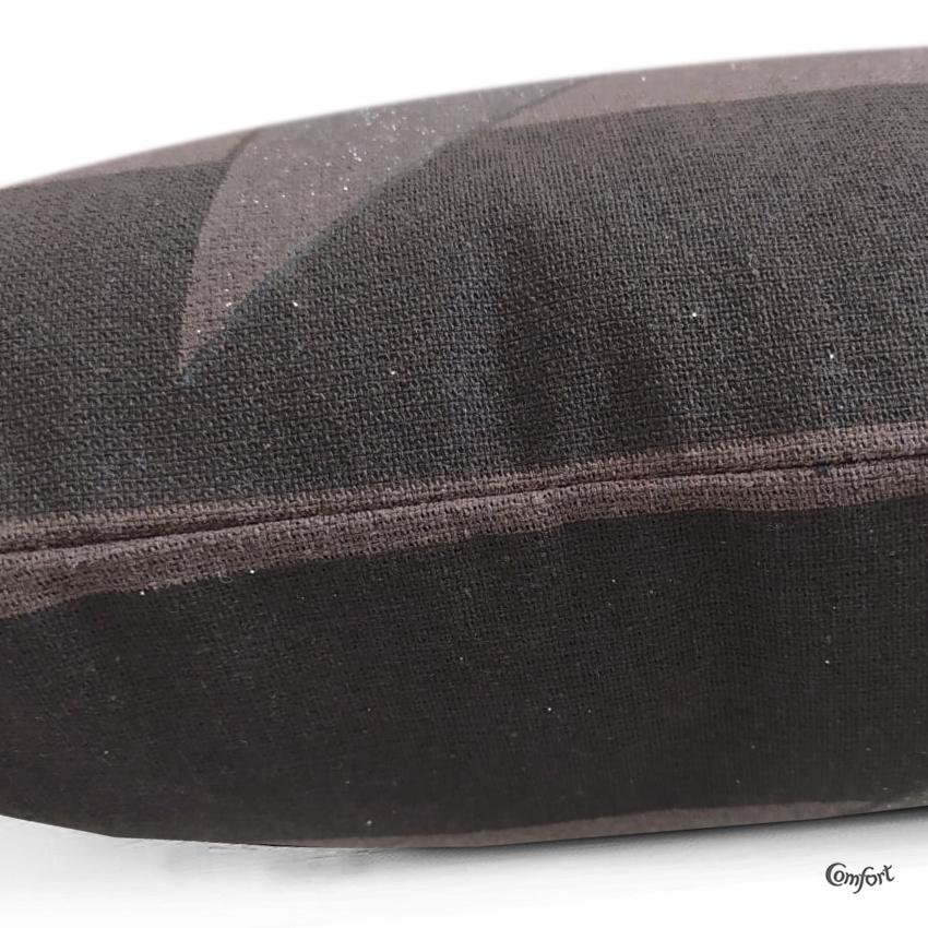 Capa de Almofada Serigrafada Frente e Verso Marrom 40x40cm Aludra