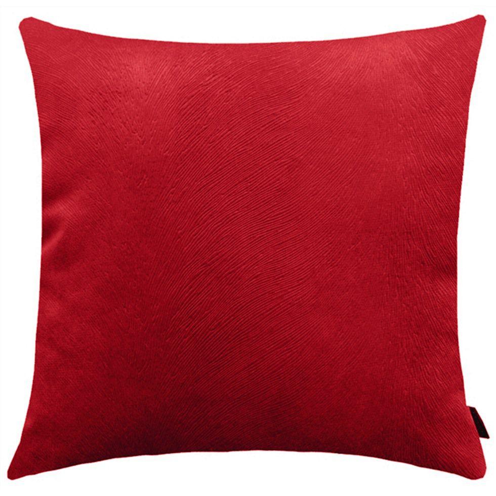 Capa de Almofada Suede Animalle 40x40cm Vermelha
