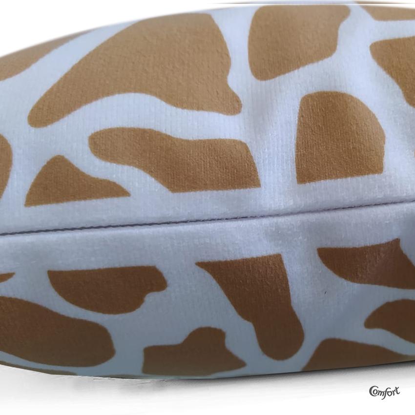 Capa de Almofada Suede Estampado 40x40cm Girafa
