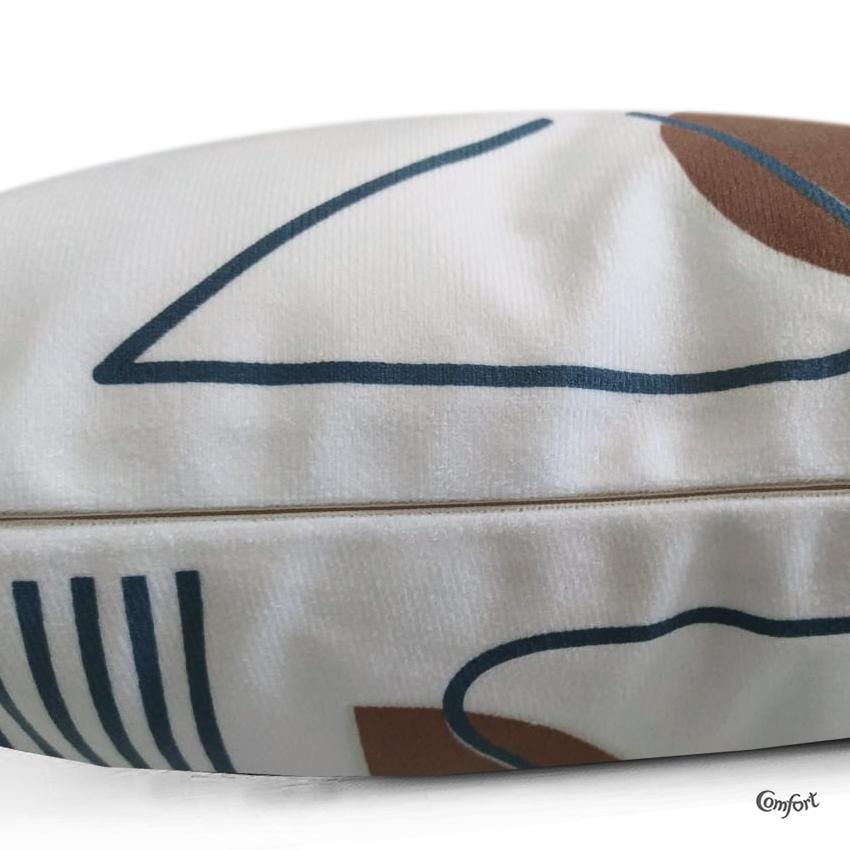 Capa de Almofada Suede Estampado 40x40cm Vega