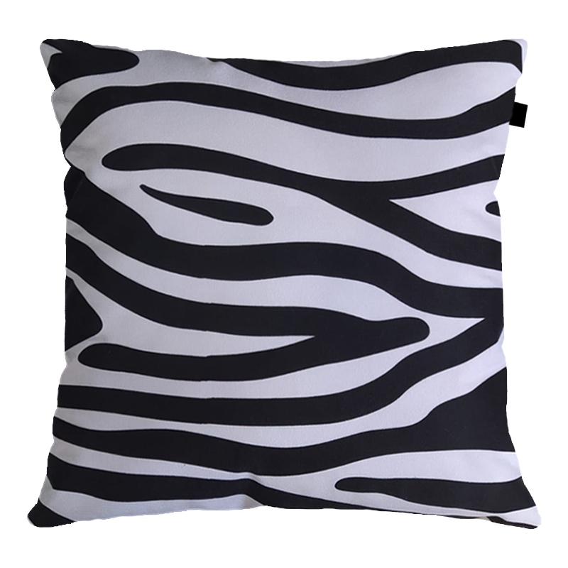 Capa de Almofada Suede Estampado 40x40cm Zebra