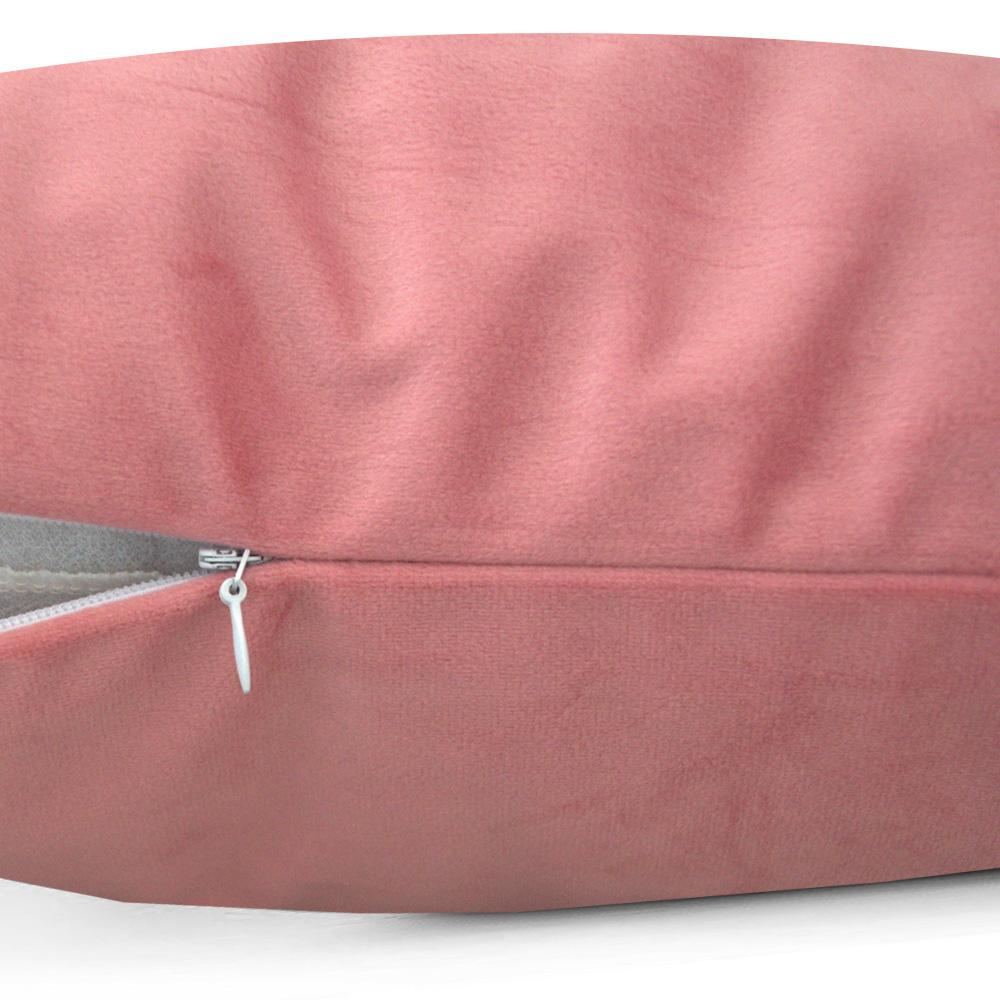 Capa de Almofada Veludo Paris 50x50cm Rosa