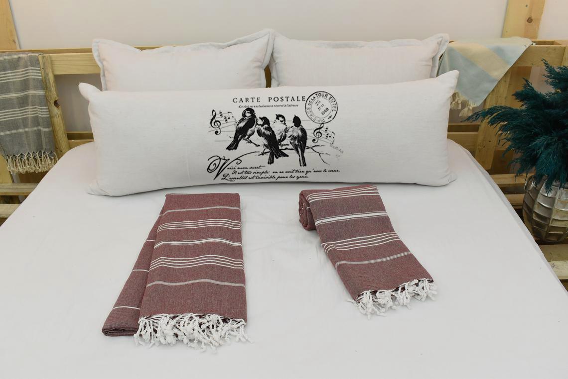 Capa Para Travesseiro De Corpo Body Pillow Natural 40x130cm Pássaros