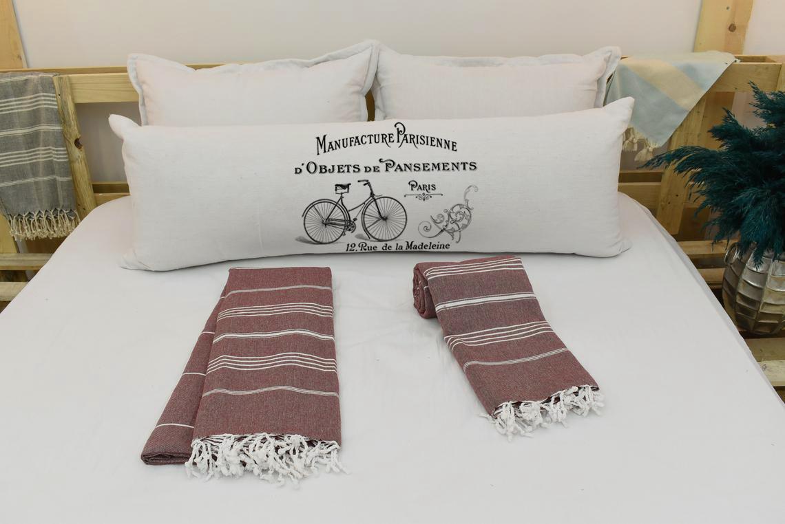 Capa Para Travesseiro De Corpo Body Pillow Natural 40x130cm Vintage French