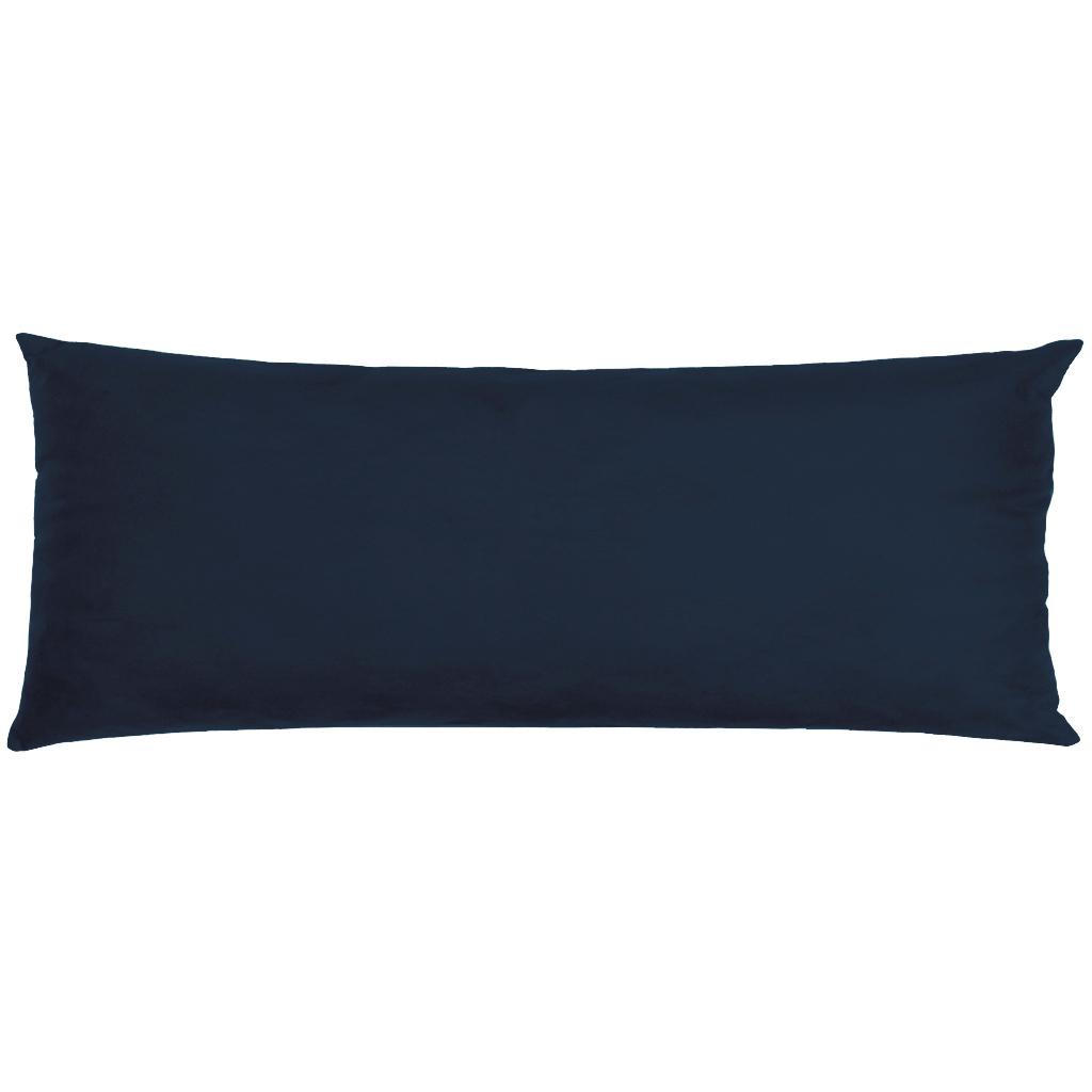 Capa Para Travesseiro De Corpo Body Pillow Veludo 40x130cm Azul Marinho