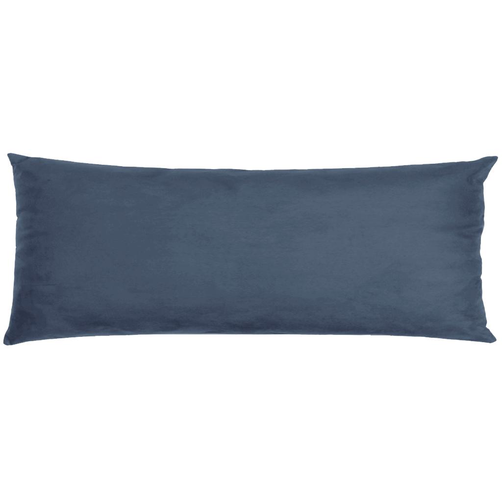 Capa Para Travesseiro De Corpo Body Pillow Veludo 40x130cm Azul Tibet