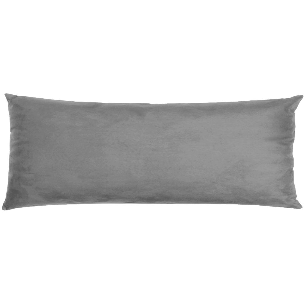 Capa Para Travesseiro De Corpo Body Pillow Veludo 40x130cm Cinza