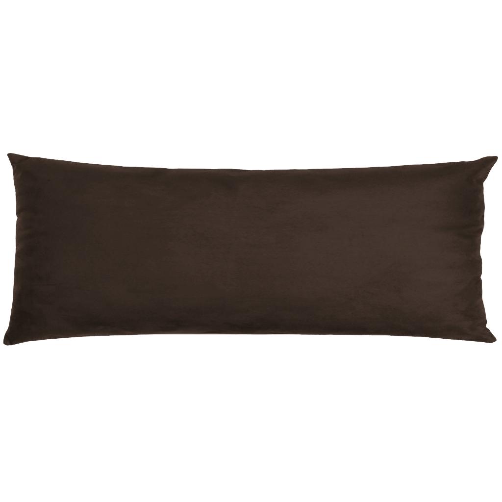 Capa Para Travesseiro De Corpo Body Pillow Veludo 40x130cm Marrom