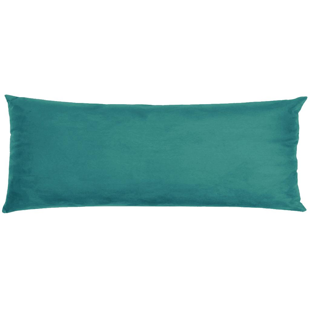 Capa Para Travesseiro De Corpo Body Pillow Veludo 40x130cm Turquesa