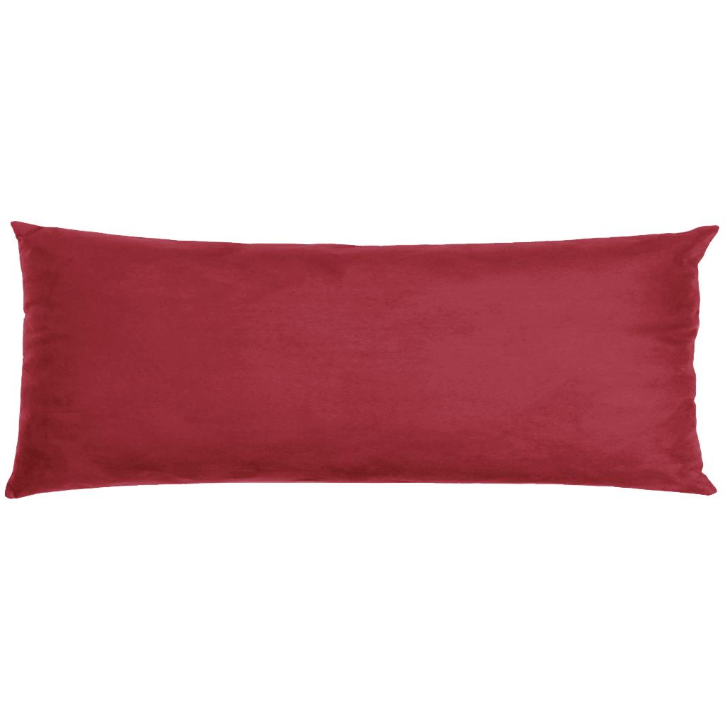 Capa Para Travesseiro De Corpo Body Pillow Veludo 40x130cm Vermelho