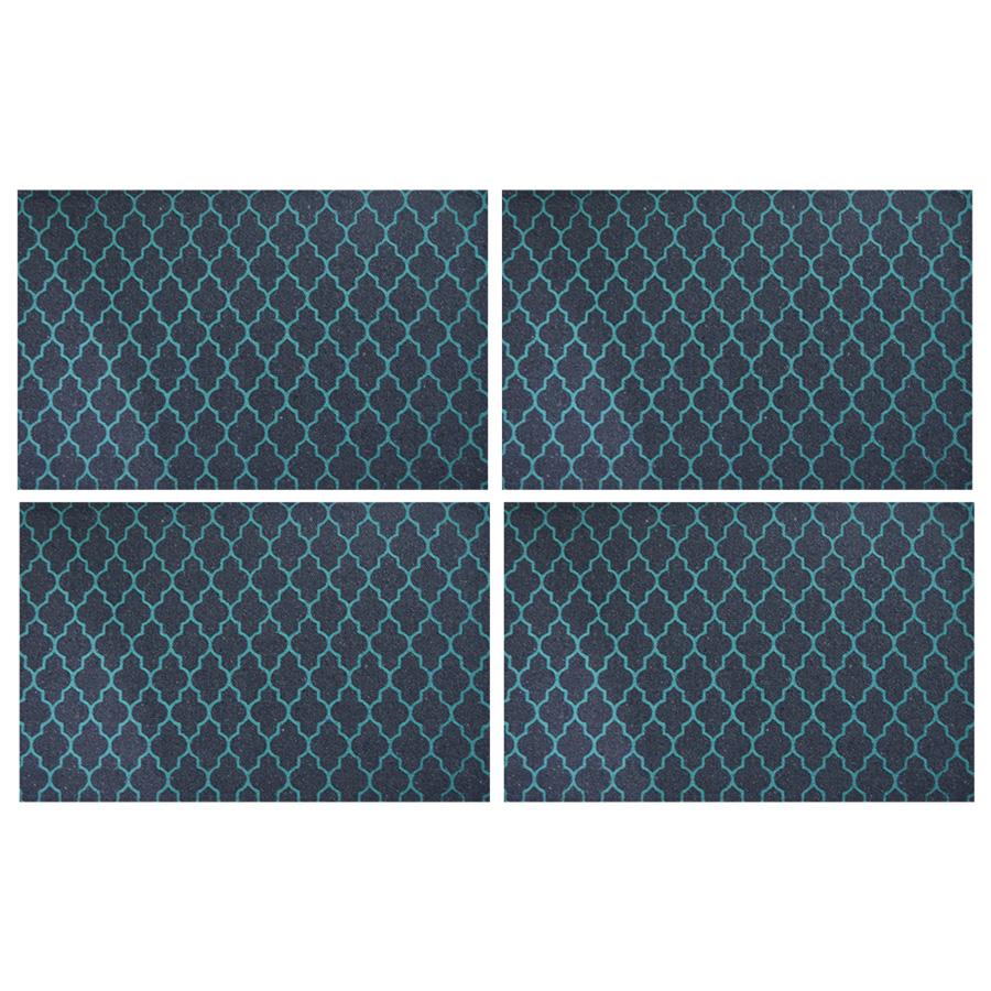 Jogo americano Estampa Azul Marinho/Verde 33x49cm 4 Peças - Emborrachado