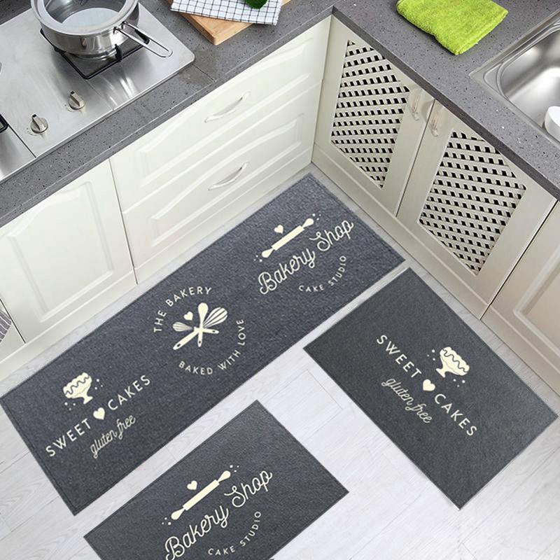 Jogo de Tapetes Cozinha Algodão Kitchen 3 peças - Antiderrapante