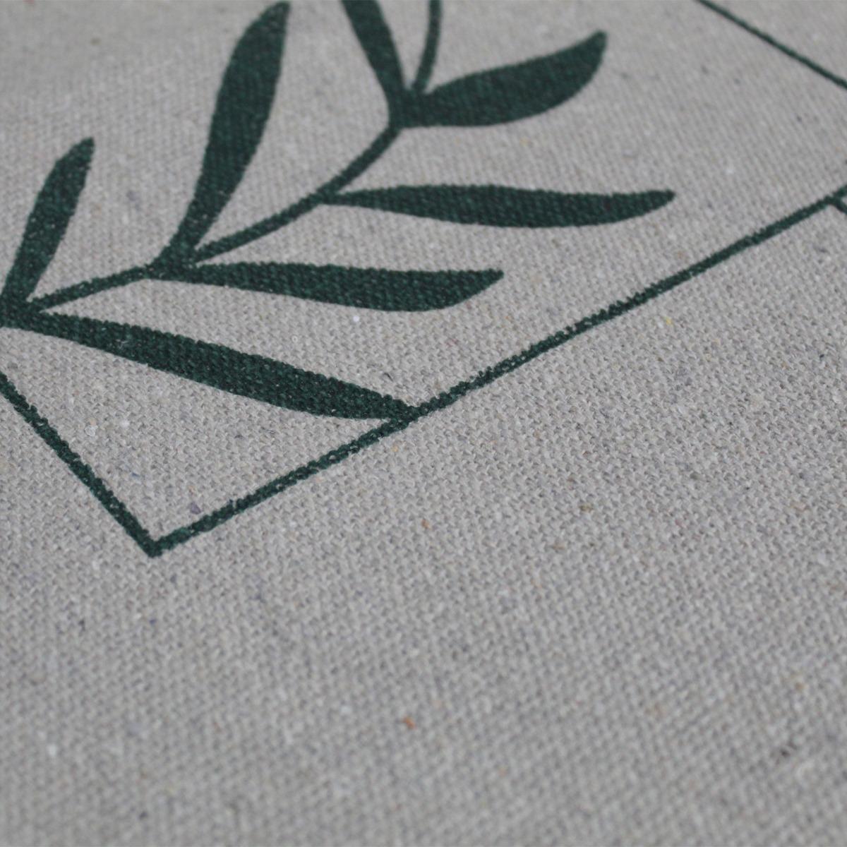 Jogo Tapete Cozinha Areia Algodão Antiderrapante 3 Peças Folhas