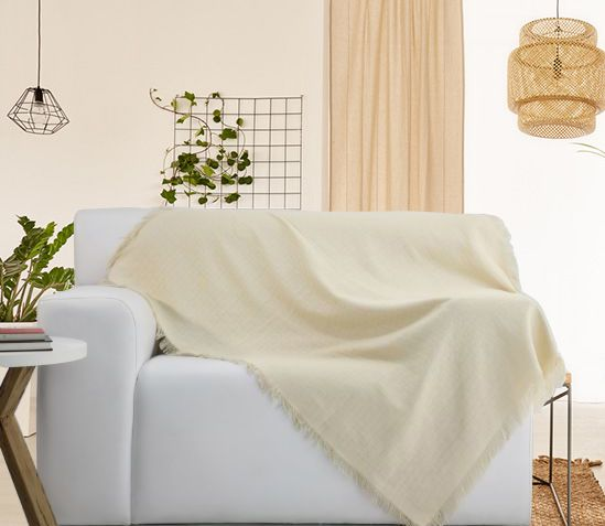 Manta Para Sofá Natura Off-White