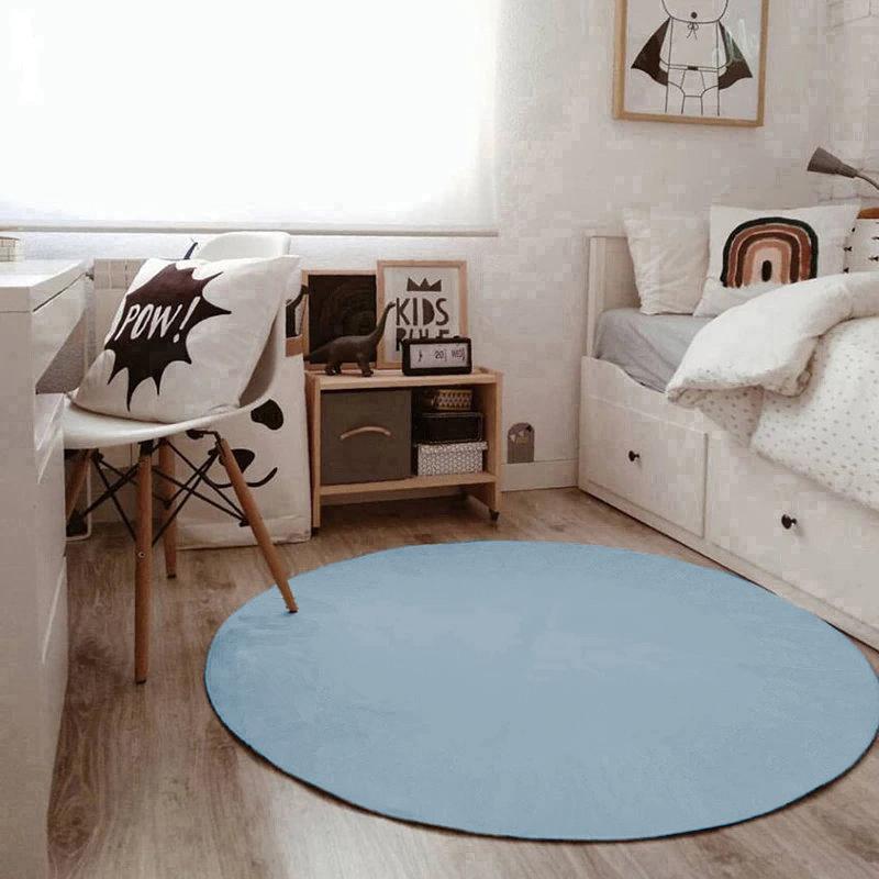 Tapete Boho Redondo Ø140cm Azul bebe - Antiderrapante