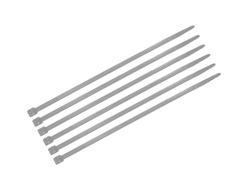 Abraçadeira branca fina 2,5mm x 15cm com 80 unidades