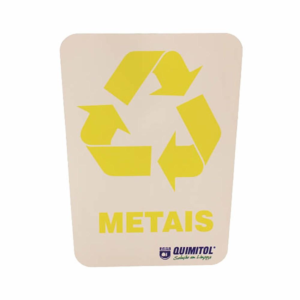 """Adesivo para reciclagem """"Metais"""""""