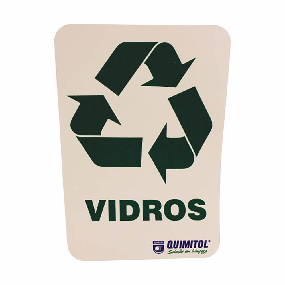 """Adesivo para reciclagem """"Vidros"""""""