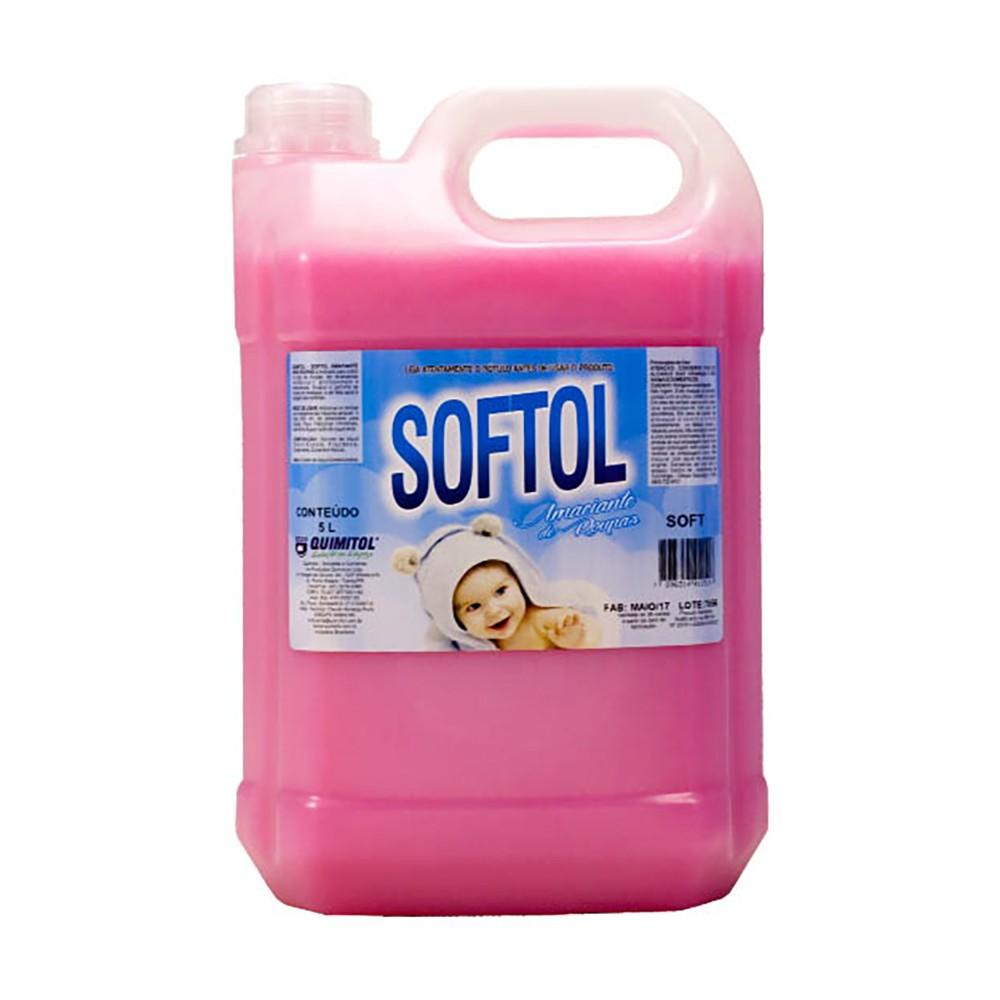Amaciante Softol Rosa Soft 5 Litros