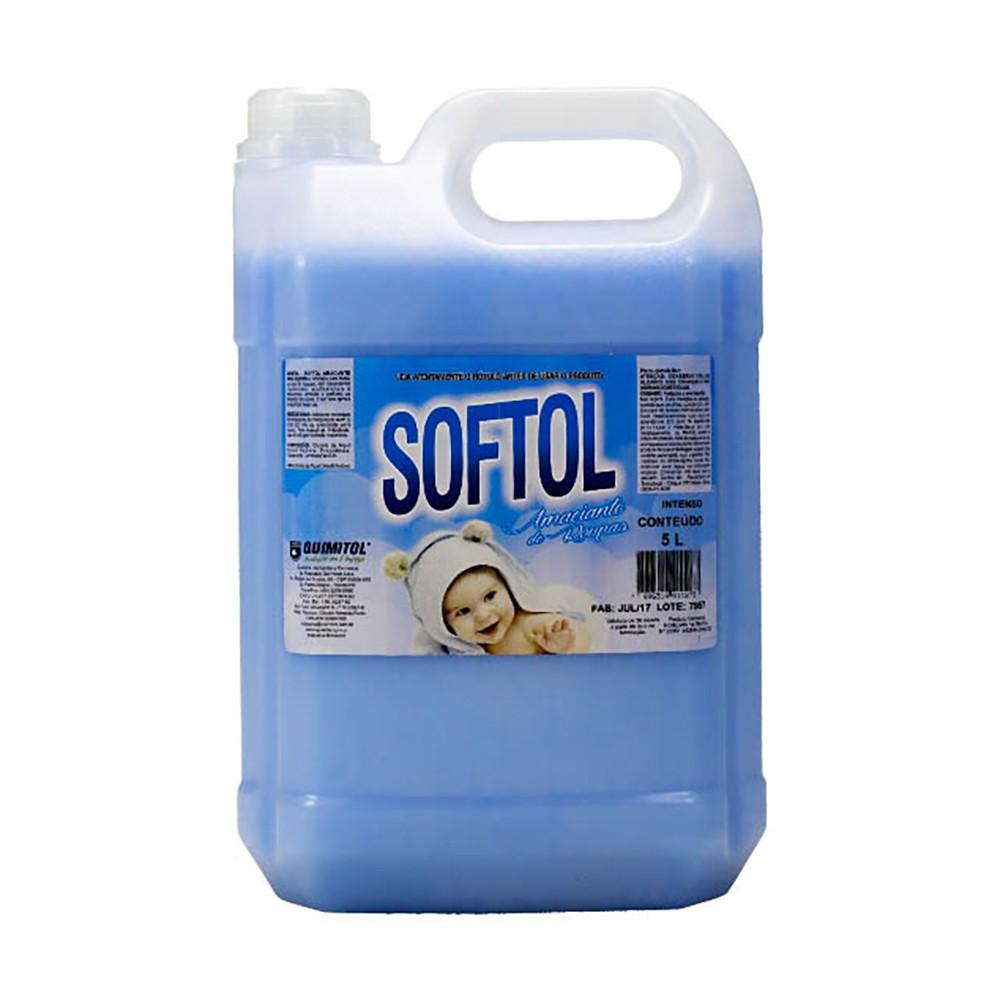 Amaciante Softol Azul Sunny Fresh 5 Litros