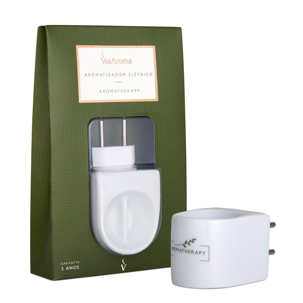 Aromatizador Elétrico Porcelana Branco Bivolt Bipartido Aromatherapy