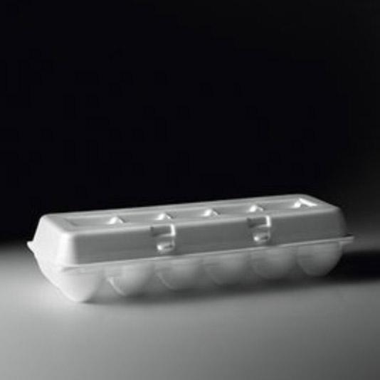 Embalagem de Isopor para 12 Ovos com 10 Unidades