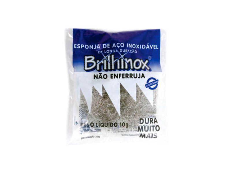 Esponja de aço inoxidável - Brilhinox