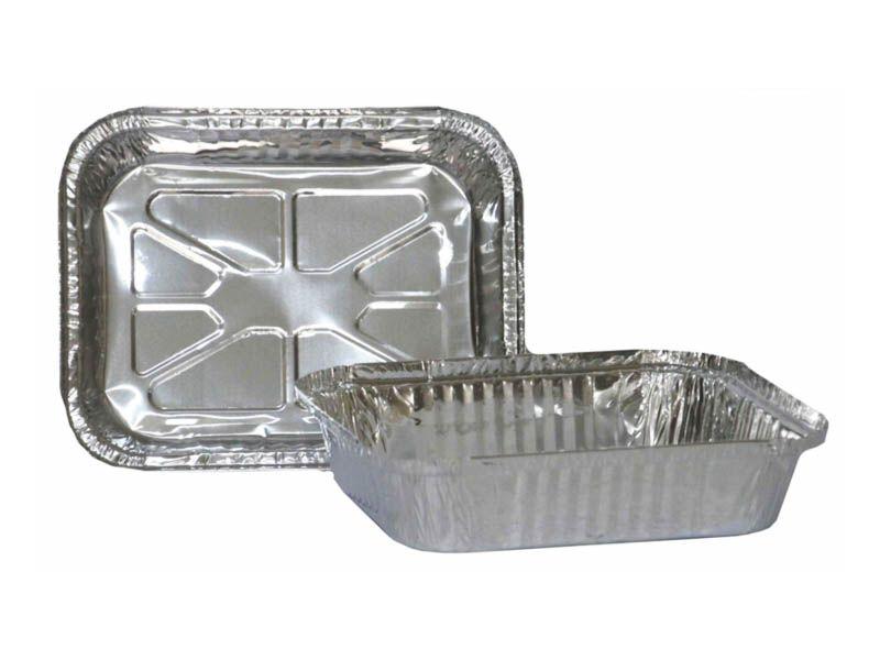 Forma de alumínio com tampa para alimentos 1150ml com 10 unidades