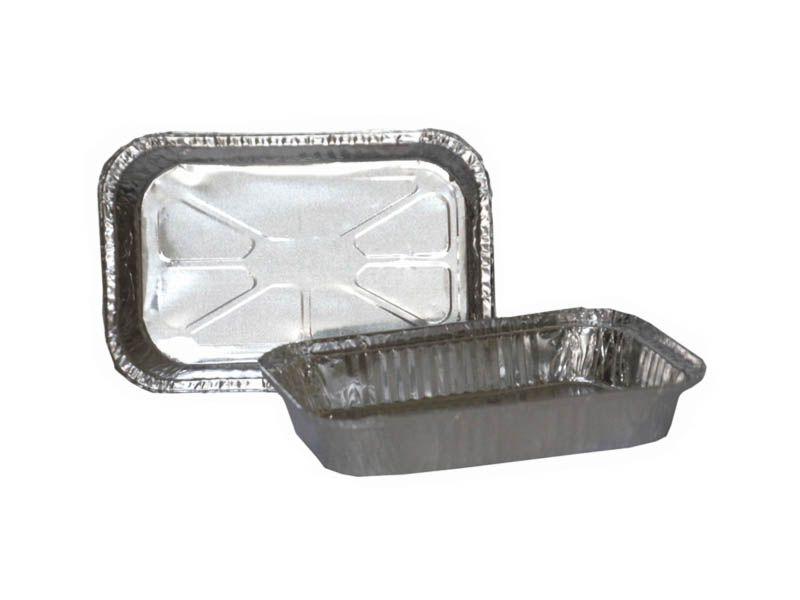 Forma de alumínio com tampa para alimentos 1500ml com 10 unidades