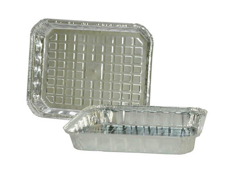 Forma de alumínio com tampa para alimentos 2000ml com 10 unidades