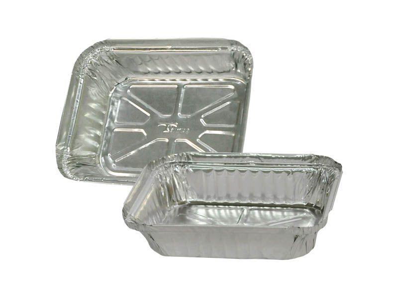 Forma de alumínio com tampa para alimentos 730ml com 10 unidades