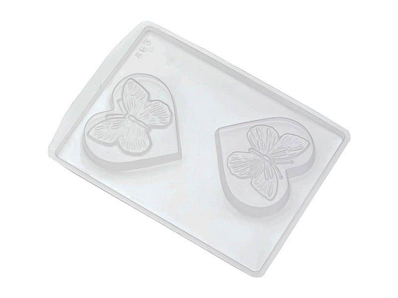 Forma de PVC coração e borboleta