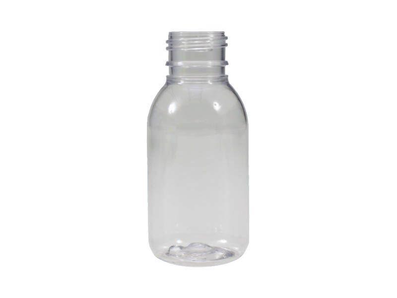 Frasco pet cristal transparente sem tampa R24/60ml com 10 unidades