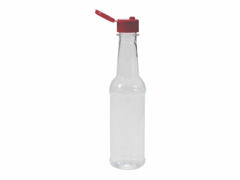 Frasco plástico para molho de pimenta com tampa 150ml