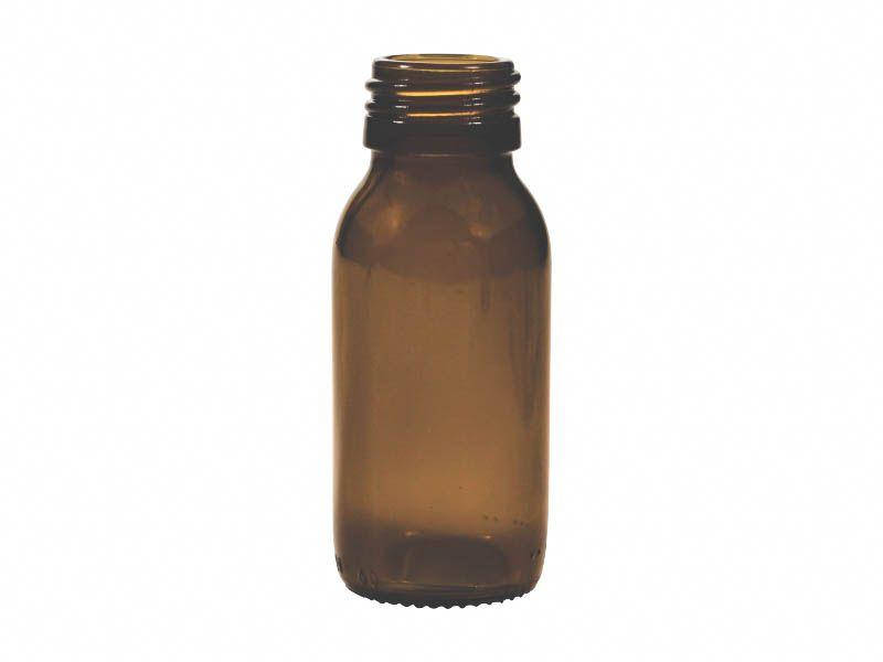Frasco vidro ambar sem tampa R28/410/60ml