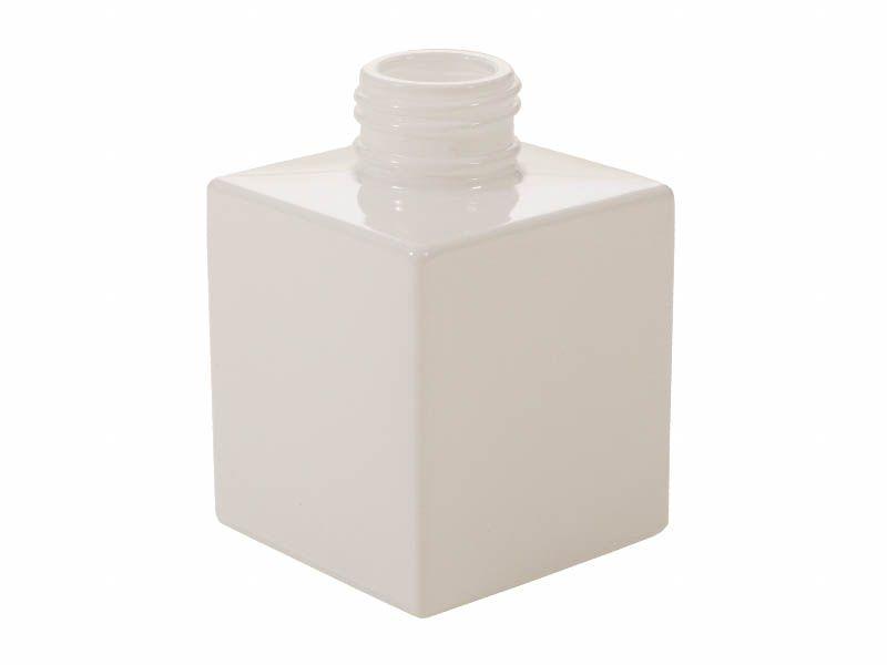 Frasco vidro cube branco sem tampa R28/410/100ml