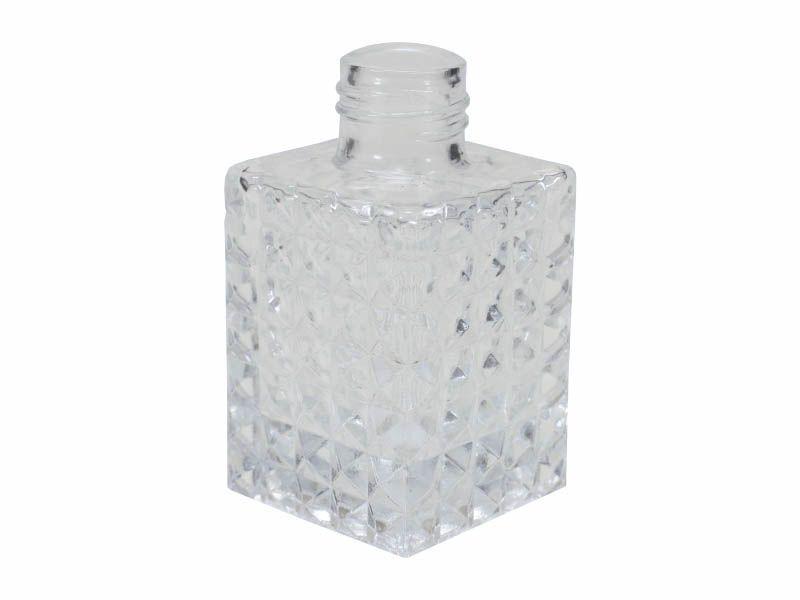 Frasco vidro diamante sem tampa R28/410/100ml