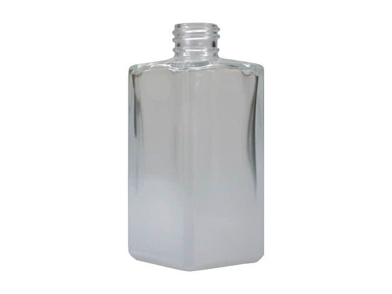 Frasco vidro square degradê branco sem tampa R28/410/250ml