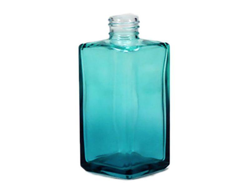 Frasco vidro square verde esmeralda sem tampa R28/410/250ml