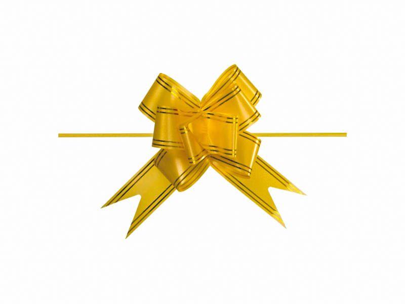 Laço mágico amarelo 12mm com 10 unidades