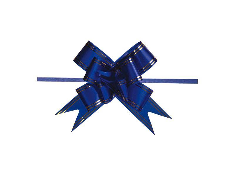 Laço mágico azul escuro 12mm com 10 unidades